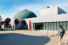 The dome of the modern digital planetarium in Brno