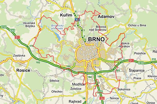 Brno on the map visitbrnocz
