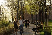 Spring stroll in the park under Špilberk
