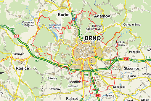 Brno, city map
