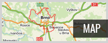 Brno on the map